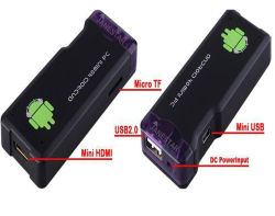 Android Dual Core 4.2.2 Caixa TV inteligente Mini PC Bluetooth