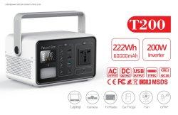 alimentación 12V 15V 24V DC Mini portátil Batería de litio UPS generador de energía solar portátil de emergencia para el hogar