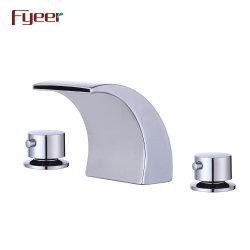 Санитарные Fyeer продовольственный Двойная ручка ванной комнатой и водопадом бассейна лотка электродвигателя смешения воздушных потоков