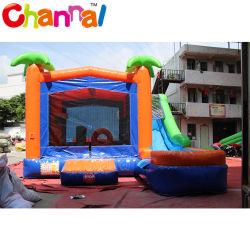La noix de coco Palm saut gonflable château gonflable Combo Bouncer humide/sec
