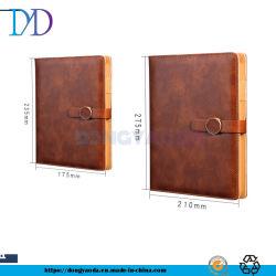 Commercio di stampa a fogli mobili di adattamento del taccuino del taccuino A5 del cuoio dell'inarcamento di affari Logo/1