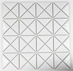 De noordse Driehoekige Ceramische Lapwerk van het van de Achtergrond bank van de Eetkamer van de Keuken van het Mozaïek Heldere Witte Tegel van de Woonkamer van de Muur