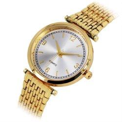 La fabricación OEM de la moda de oro y oro rosa regalo señora reloj de pulsera personalizada (JY-AL070)