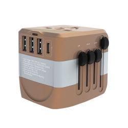 5V 10un adaptador de Viaje Universal 3 USB Adaptador de viaje universal