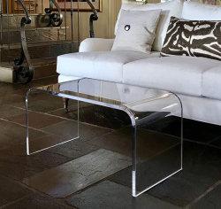 Acrílico personalizada Salón Mesa muebles acrílico