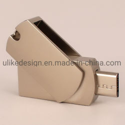 De Micro USB Pendrive van de Wartel OTG van het Metaal van de Aandrijving van de Flits van de douane USB met Volledige Capaciteit