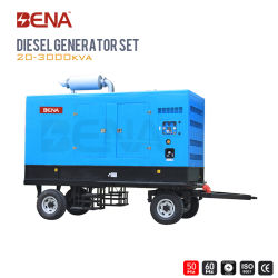 20kVA 700kVA Trailer Móvil espera poder generador diésel de emergencia