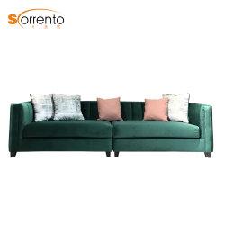 Hôtel de luxe 4 canapés de velours de couleur verte Salon canapé en tissu