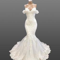 Trajes de novia de encaje de hombro novia vestidos de novia Z8021