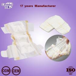 Suave y transpirable de Surround ultra delgada cintura elástica Pañales