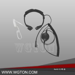 Dos dispositivos de comunicación de radio de garganta Mic Headset