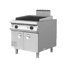 BBQ van de Rots van de Lava van het Fornuis van de Stijl van Italië Elektrische Grill met de Apparatuur van de Keuken van het Roestvrij staal van het Kabinet