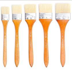 8 Stücke große flache Künstler-Borste-Lack-Pinsel-Wäsche-Pinsel-Set-für Öl-Wasser-Farben-Acryllack