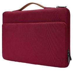 공장은 직접 MacBook를 위한 빨간 나일론 철회 가능한 손잡이 출장 휴대용 퍼스널 컴퓨터 핸드백을 공급한다