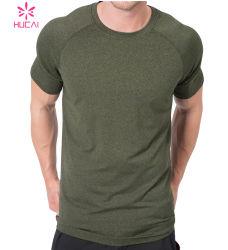 De naar maat gemaakte T-shirt Mens van Wicking van de Vochtigheid Slanke Geschikte Lopende
