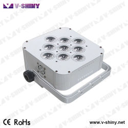 9PCS weißes umkleidendes Rgbwauv 6in1 Batterie LED flaches NENNWERT Stadiums-Licht