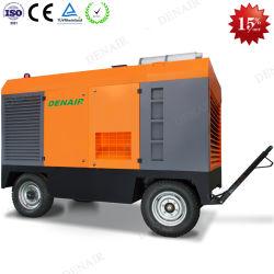 Nova Condição Lubrificado Tipo Diesel Industrial parafuso portátil do Compressor de Ar