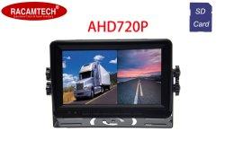 バスまたは頑丈な手段のための熱い販売のAhd 720p 2CH分割されたDVR記録LCD SDカードのモニタのトラック7inch車