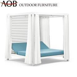 El chino moderno Cabana en silla de playa Jardín al aire libre Piscina Cubierta de aluminio muebles sofá-cama de hotel con cojín