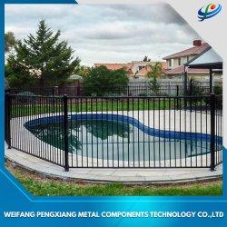 En aluminium poudré/Dessus plat en fer forgé clôture de piscine