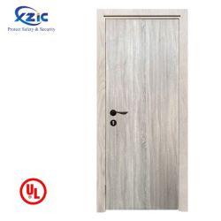 火のUL10cの証明書が付いている評価される固体内部のフラッシュ安全ホテルエントリ材木の木のドア