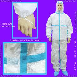 Quirúrgico / Médico / Impermeable / Plástico / PE / Trabajo / Seguridad / Ropa / Overol de Protección de PP Desechable No Tejido SMS para Hospital / Laboratorio