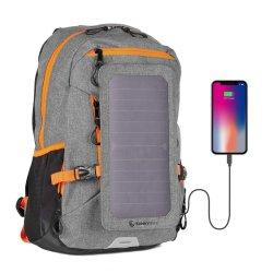 Mochila solar Mochila Bolsa de viaje de ocio de la bolsa de portátil más potente del mundo, un panel solar para la carga de los Smartphones y todos los dispositivos USB