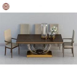 Tabella pranzante di legno della mobilia rotonda o del ristorante forte con i piedini di legno solido