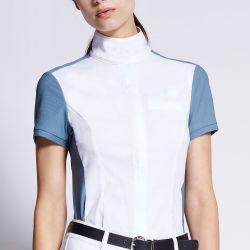 Fábrica de OEM/ODM de desgaste de equitación de etiqueta privada personalizada Cabalgatas Comienzo Las Mujeres camiseta de manga corta