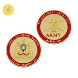 المصنع الولايات المتحدة الأمريكية العلم الجانب المزدوج تصميم المعادن / الشرطة التحدي Coin للبيع