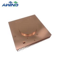 Dissipatore di calore di rame anodizzato del CPU dell'aletta raschiato quadrato