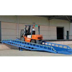 El patio de acero de la rampa móvil de carga rampas las rampas de patio de aluminio Dock Dock Leveleredge camión alzador de la Niveladora almacenamiento vertical automático de la Niveladora de la placa base