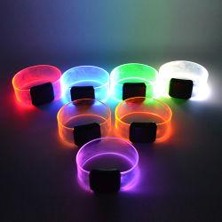 В Рождество-звучания магнит LED браслет, магнитных СВЕТОДИОДНЫЙ ИНДИКАТОР браслет ремешок на руку