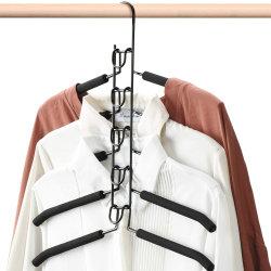 Economia di spazio dell'armadio gancio magico dell'organizzatore dei vestiti del guardaroba del metallo staccabile di 5 strati (MH008-1)
