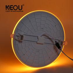 Rvb Keou Smart Tricolor double rond Carré de lumière LED Couleur lampe LED 18W 24W 36W à intensité réglable voyant de panneau à LED réglable voyant de panneau à LED Lampe à LED