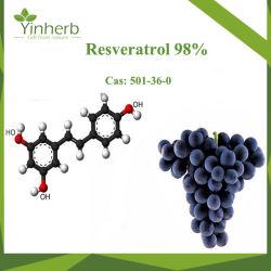 Trans-Resveratrol Yinherb extrait naturel de 99 % poudre brute