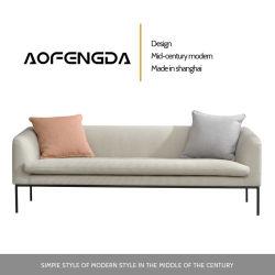 Lichte luxe Ins Style Super Soft Latex Fabric Sofa Nordic Stijl kleine familie woonkamer Tweepersoonskamer drie personen beneden Bank