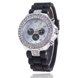 Reloj De Dama 2020 Femmes de haute qualité des montres à quartz de silicone de mode Rhinestone Women Watch Mesdames