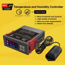 منظم حراري بجهد 12 فولت وقدرة 110 فولت وقدرة 220 فولت مع وحدة التحكم الرقمي في درجة الحرارة الرطوبة في مقياس الحرارة Humidistat على الترطيب