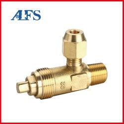 La primavera de la plena conexión roscada de elevación a gas de latón de alivio de presión del compresor de aire/Reducción/Control//Enfriamiento criogénico/refrigerante de la esquina de válvula de seguridad de la válvula/ángulo