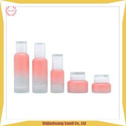 30g 50g rosafarbenes kosmetisches Sahneglas-Glasset mit weißem Deckel