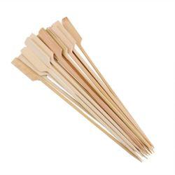 Os espetos de bambu bastões de madeira de churrasco para ferramentas de fruta churrascos 100 PCS/15cm (6 polegadas) Bandeja de bambu