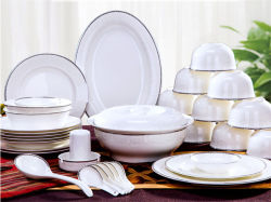 2020 陶磁器の食器セット骨の中国の食器の皿および皿 家庭用ギフト磁器製食器セットは、ロゴをカスタマイズできます