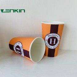 커피 잔 사라다 그릇 아이스크림 대나무 Kraft 종이 주문을 받아서 만들어진 최신 벽 작풍 패킹 음식 국수