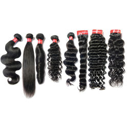 Kbeth Venta caliente los paquetes de pelo con cierre grado 10Virgen brasileño mayorista de cabello rizado rizado cabello virgen de la trama de longitud media