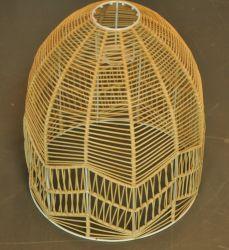 El bambú y el marco de metal hecho a mano Lámpara de techo con piezas de ELC no