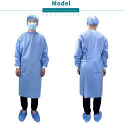 Bata com EN13795 Cirúrgica do Hospital Utilizar certificado CE SMS