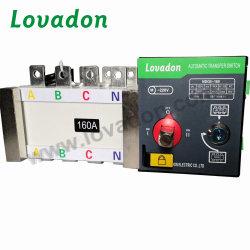 مفتاح النقل التلقائي الكهربائي ثنائي الطاقة 3P 160A اليدوي
