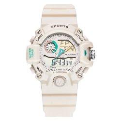 Signora bianca Sport Watch di modo della fascia del silicone con il cronografo