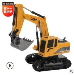 Los niños multifuncional de aleación de la excavadora de juguete de Control Remoto Control Remoto Inalámbrico de calado de la ingeniería de la excavadora vehículo